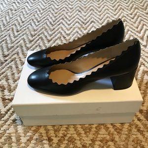 Chloe black leather pump size 38.5 euro